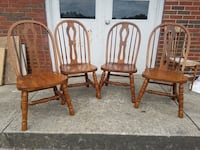 4 oak chairs $150 plus tax Spring Hill, 37174