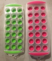 three white, pink, and green plastic containers Hagerstown
