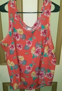 women's pink and blue floral sleeveless dress Madison Heights, 24572