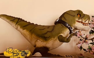 3d interactive t-rex robot with remote