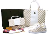 white and brown Louis Vuitton monogram tote bag Toronto, M6M 5A5