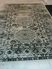 white and black area rug Plano, 75074