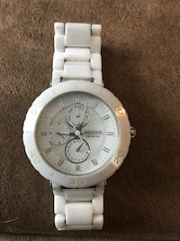 White ceramic Fossil Watch Normal, 61761
