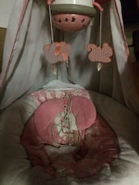 Baby's pink and brown cradle and swing Hampstead, 03841