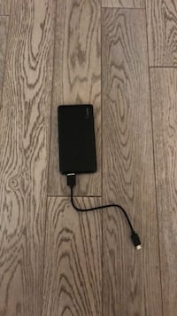 black iPhone 7 with charger Vaughan, L6A 1S2