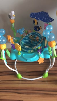 baby's blue and green jumperoo Toronto, M3N 2Z8