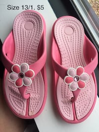 Pair of pink-and-white sandals Chevy Chase, 20815