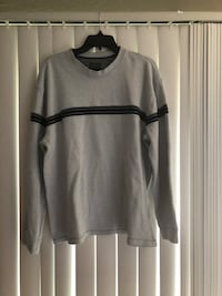Men's gray with strip long sleeve heavy shirt Springfield, 22153