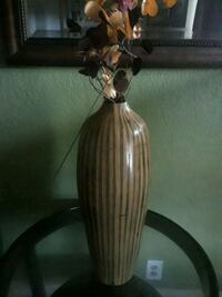 brown and white ceramic vase West Palm Beach, 33401
