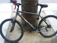 black and red hardtail mountain bike 2409 mi