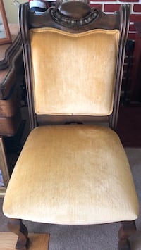 Antique  Chair with Gold Upholstery Elkridge, 21075