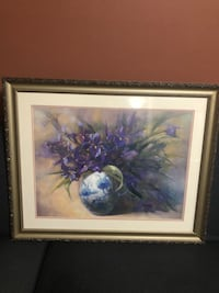 purple petaled flower painting with brown wooden frame Beaverton, 97005