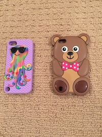Mint condition teddy bear and octopus cases for iPhones