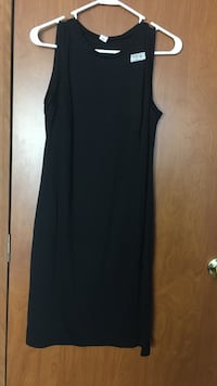 black scoop neck sleeveless maxi dress Union Bridge, 21791