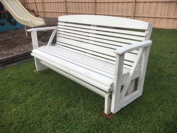 Awe Inspiring 8 Foot Heavy Duty Wooden Bench Glider Swing Chair Pdpeps Interior Chair Design Pdpepsorg