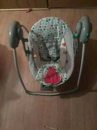baby's gray and white swing chair Mobile, 36619