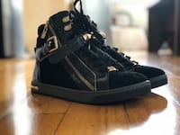 Michael Kors Black Glam Studded High Top Leather Sneaker Falls Church, 22042