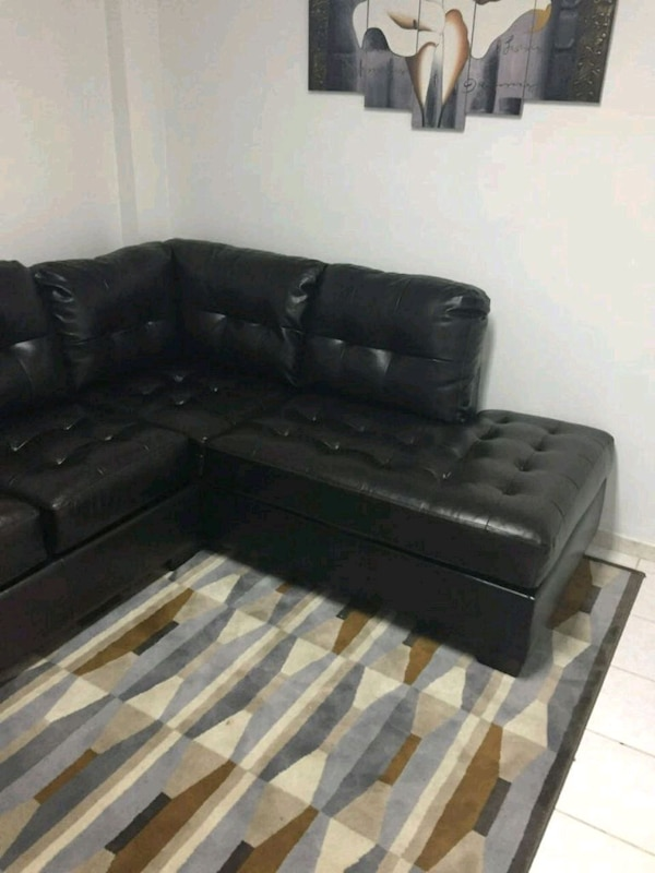 Leather Sofa Couch Free Carpet