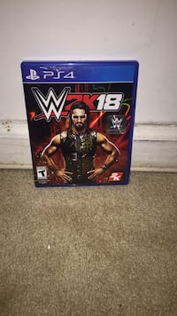 WWE 2K17 PS4 game case Chantilly, 20151