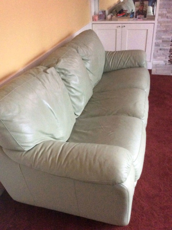 Outstanding Mint Green Leather Couch Machost Co Dining Chair Design Ideas Machostcouk