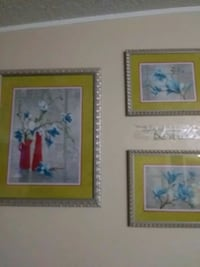 two brown wooden framed painting of flowers Bakersfield, 93307