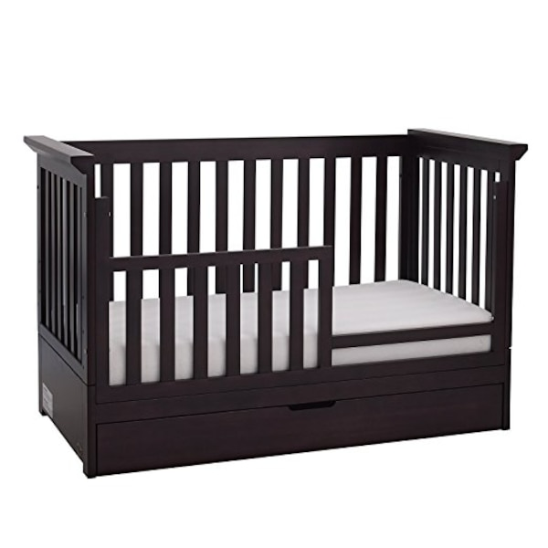 Used Baby Cache Metro Fold Away Crib Espresso For Sale In