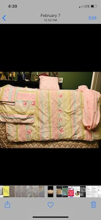 Mattress and box spring double with quilt and sheet and shams. St Albert, T8N 6K8