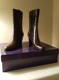 Enzo angiolini boots brown wedge size 9