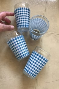4 Vintage juice glasses