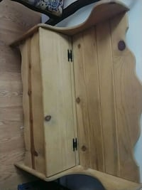 Small solid wood storage bench