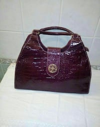 Tote bag in pelle di serpente viola Palermo, 90151