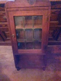 brown wooden framed glass cabinet Los Angeles, 90034