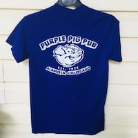 blue and white crew-neck t-shirt Murfreesboro, 37128