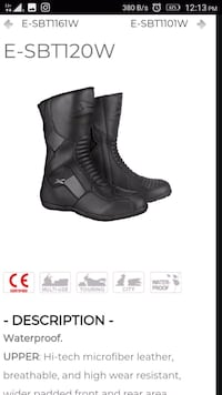 pair of black leather boots screenshot London