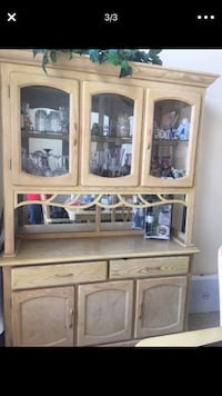 Brown wooden framed glass display cabinet Chula Vista, 91915