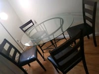 round glass top table with four chairs dining set Centreville, 20120