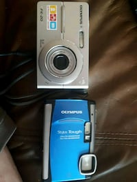 Two Olympus cameras with battery chargers Brentwood Bay, V8M 1G7