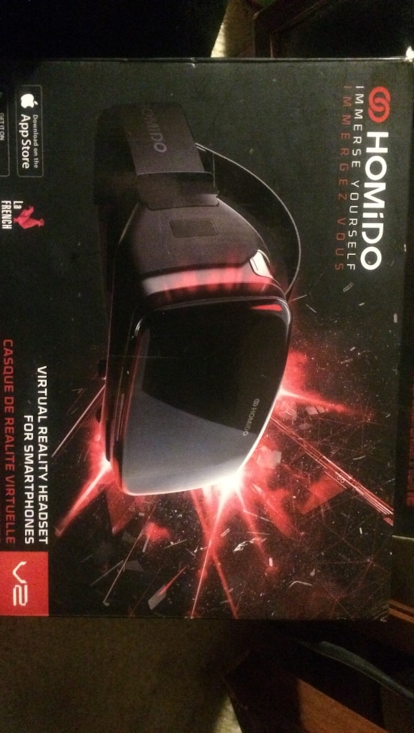 Black homido virtual reality headset box