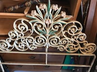 Antique Wrought Iron scrolled Twin Head board