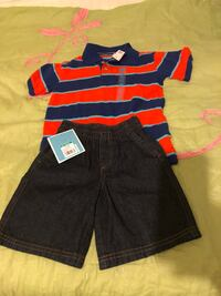 Boys 4T outfit. new collar shirt and jean shorts Gwynn Oak, 21207