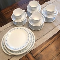 Vintage Corelle (Snowflake Blue Pattern) from 1970s