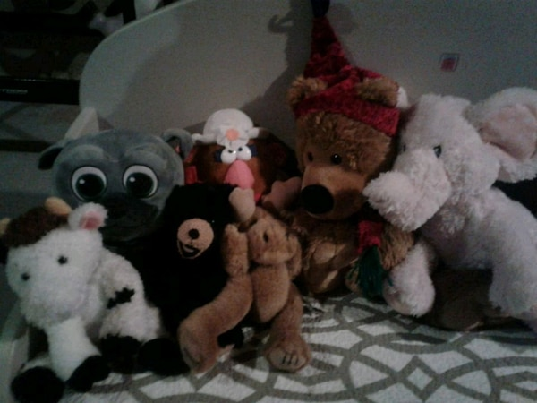 assorted animal plush toys lot 5 for all