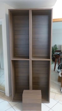 Dark veneer walnut shelving Richmond, V7E 6M2