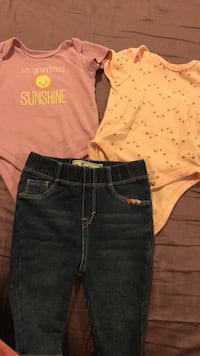 Baby girl shirts and jeans Hyattsville, 20785