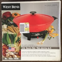 West Bend Electric Wok - BRAND NEW IN BOX NEVER USED. See my other offers Stockton, 95209