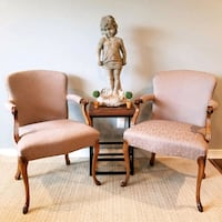 French Style Chairs And Cement Statue. Houston, 77089