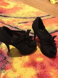 Chinese laundry peep toe ruffle mesh high heels. These COMPLETE the outfit, great shoes I just don't get out much to wear them! Only worn maybe 3 times.
