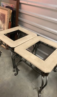 2 Marble coffee tables