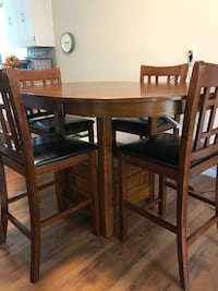 Real oak wood dining table set