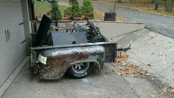 1955 Chevy Truck >> 1955 Chevy Truck Bed Trailer